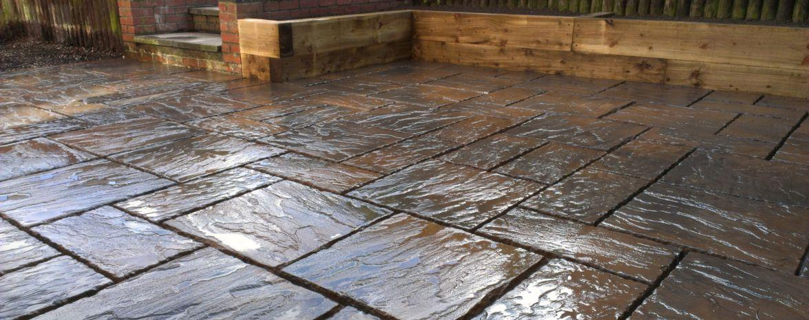 Concrete or Natural Stone Paving