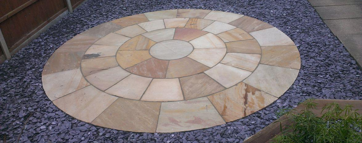 Natural Stone Circle with Slate